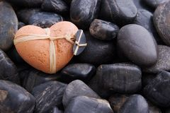 Coeur d'argile Photo libre de droits