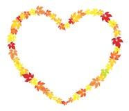 Coeur d'automne Images stock