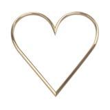 Coeur d'or - d'isolement sur le blanc Photo libre de droits