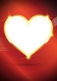 Fond d'or de coeur de vecteur Photo libre de droits