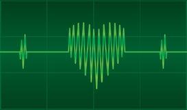 Coeur d'EKG Image libre de droits