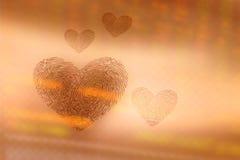 Coeur d'empreinte digitale Photographie stock
