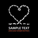 Coeur d'empreintes de pas photographie stock libre de droits