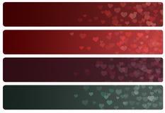 Coeur d'en-têtes/bannières Photo stock