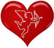 Coeur d'eros illustration de vecteur