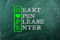 Coeur d'espoir Image libre de droits