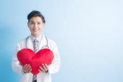 Coeur d'exposition de docteur à vous Photos stock