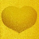 Coeur d'or gelé Photo libre de droits
