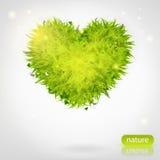 Coeur d'herbe verte Images stock