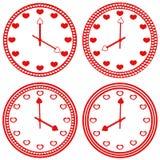 Coeur d'horloge de logo illustration libre de droits