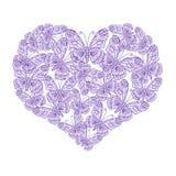 Coeur d'illustration des papillons illustration stock