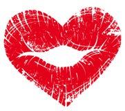 Coeur d'impression de languette Photo stock