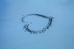 Coeur d'inscription sur le sable Image libre de droits