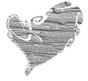 Coeur d'isolement de mur Symbole et concept d'amour sur le fond blanc Images stock