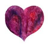 Coeur d'isolement sur le blanc Images stock