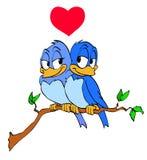 Coeur d'oiseaux d'amour Photo libre de droits