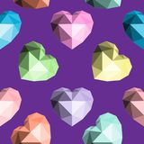 Coeur d'origami Configuration sans joint de vecteur Photo libre de droits