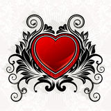 Coeur d'ornamental de Valentine Photo stock