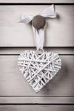 Coeur d'osier de vintage Images libres de droits