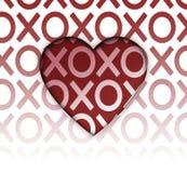 Coeur d'étreintes et de baisers Image libre de droits