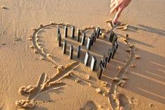 Coeur d'un domino Image stock