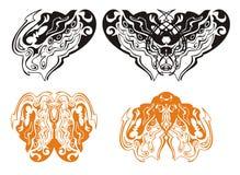 Coeur d'un dragon et d'un papillon de dragon Photo libre de droits