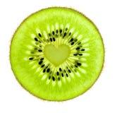 Coeur d'un kiwi/d'instruction-macro superbe/d'un arrière allumé Image libre de droits