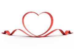 Coeur d'une bande rouge Image libre de droits