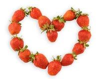 Coeur d'une fraise Photographie stock