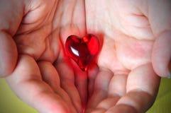 Coeur dans des mains Images stock