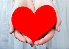 Coeur dans des vos mains Photo stock