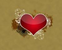 Coeur dans l'amour Images libres de droits