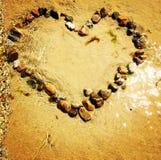coeur dans l'eau Images libres de droits