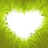 Coeur dans l'herbe Photos stock
