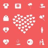 coeur dans l'icône de coeur Ensemble détaillé d'icônes de fête des mères Conception graphique de la meilleure qualité Une des icô illustration de vecteur