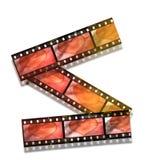 Coeur dans la bande de film Image stock