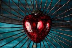 Coeur dans la cage Images libres de droits