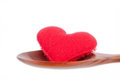 Coeur dans la cuillère Photographie stock libre de droits