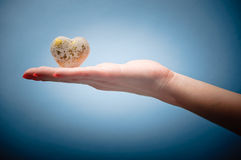 Coeur dans la main Photographie stock libre de droits