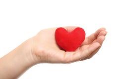 Coeur dans la main Photo stock