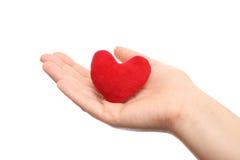 Coeur dans la main Photographie stock