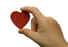 Coeur dans la main d'enfant Photo libre de droits