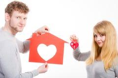 Coeur dans la maison Images stock