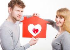 Coeur dans la maison Images libres de droits
