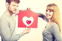 Coeur dans la maison Image libre de droits