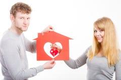 Coeur dans la maison Image stock