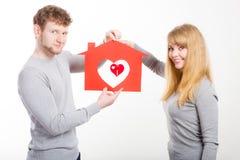 Coeur dans la maison Photos stock