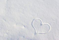 Coeur dans la neige Photo stock