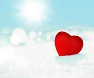 Coeur dans la neige Photographie stock libre de droits