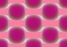 Coeur dans la place sur un fond rose Photographie stock